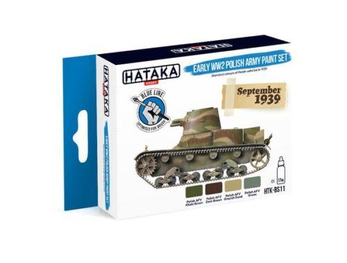 HATAKA Blue Line Set (4 pcs) Early WW2 Polish Army paint set HTK-BS11