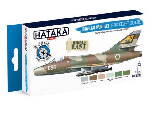 HATAKA Blue Line Set (6 pcs) Israeli AF paint set (1970's desert colours) HTK-BS12