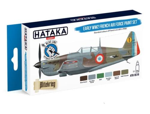 HATAKA Blue Line Set (6 pcs) Early WW2 French Air Force paint set HTK-BS16