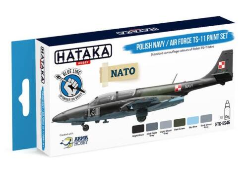 HATAKA Blue Line Set (6 pcs) Polish Navy / Air Force TS-11 paint set HTK-BS46