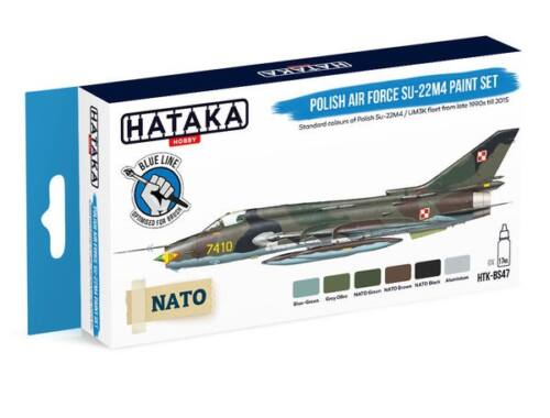 HATAKA Blue Line Set (6 pcs) Polish Air Force Su-22M4 paint set HTK-BS47