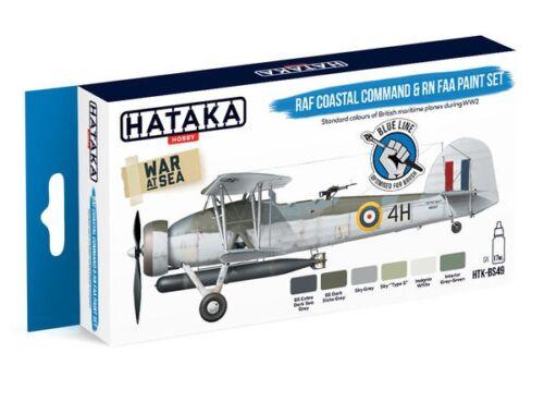 HATAKA Blue Line Set (6 pcs) RAF Coastal Command   RN FAA paint set HTK-BS49
