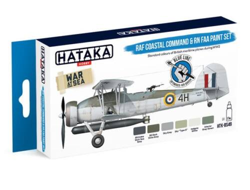 HATAKA Blue Line Set (6 pcs) RAF Coastal Command   RN FAA paint set HTK-BS49