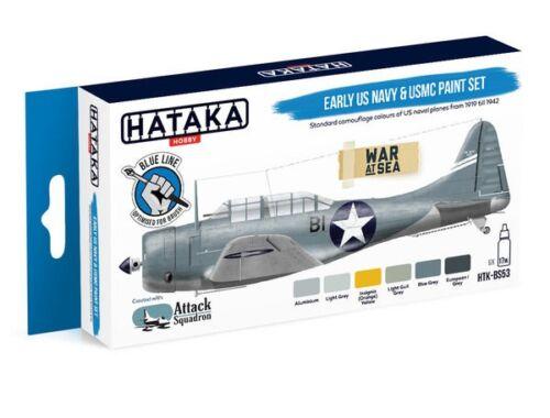 HATAKA Blue Line Set (6 pcs) Early US Navy   USMC paint set HTK-BS53