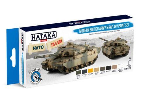 HATAKA Blue Line Set (8 pcs) Modern British Army   RAF AFV paint set HTK-BS77
