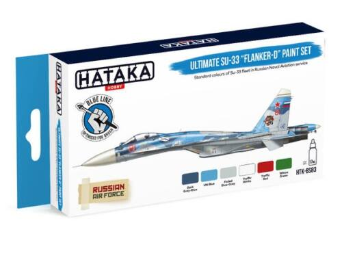 HATAKA Blue Line Set (6 pcs) Ultimate Su-33 Flanker-D paint set HTK-BS83