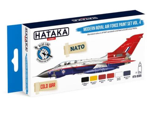 HATAKA Blue Line Set (6 pcs) Modern Royal Air Force paint set vol. 4 HTK-BS85