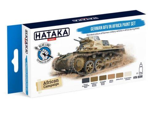 HATAKA Blue Line Set (6 pcs) German AFV in Africa paint set HTK-BS90