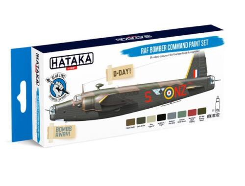 HATAKA Blue Line Set (8 pcs) RAF Bomber Command paint set HTK-BS102