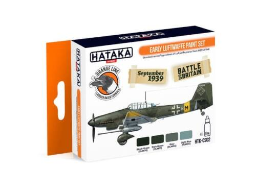 HATAKA Orange Line Set(4 pcs) Early Luftwaffe paint set HTK-CS02