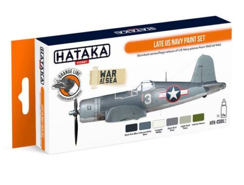 HATAKA Orange Line Set(6 pcs) Late US Navy paint set HTK-CS05.2