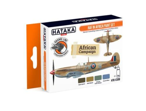 HATAKA Orange Line Set(4 pcs) RAF in Africa paint set HTK-CS08