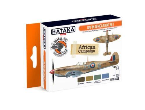 HATAKA Orange Line Set(4 pcs) RAF in Africa paint set HTK-CS08