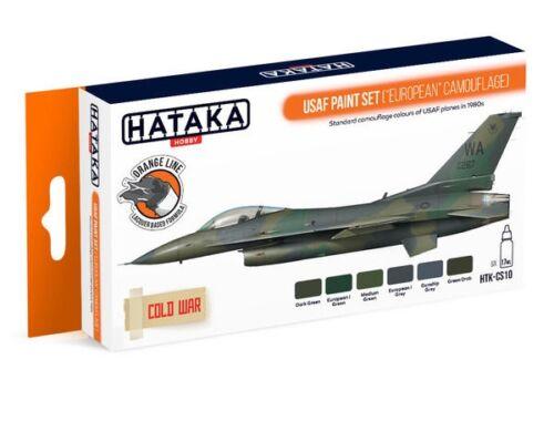 HATAKA Orange Line Set(6 pcs) USAF Paint Set (European Camouflage) HTK-CS10
