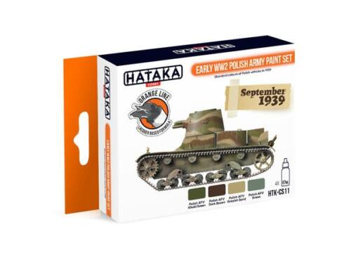 HATAKA Orange Line Set(4 pcs) Early WW2 Polish Army paint set HTK-CS11