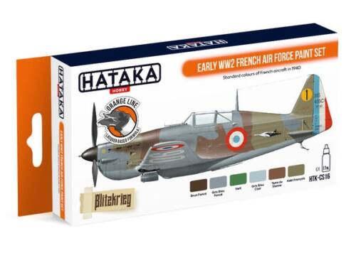 HATAKA Orange Line Set(6 pcs) Early WW2 French Air Force paint set HTK-CS16