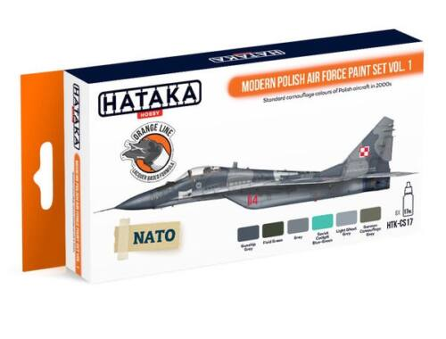 HATAKA Orange Line Set(6 pcs) Modern Polish Air Force paint set vol. 1 HTK-CS17