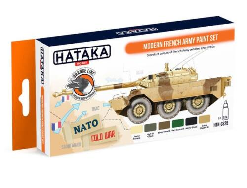 HATAKA Orange Line Set(6 pcs) Modern French Army paint set HTK-CS25