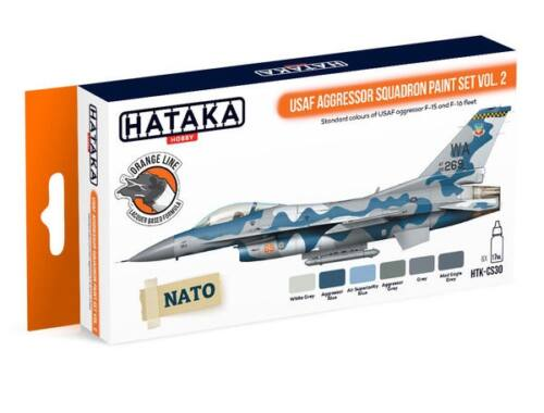 HATAKA Orange Line Set(6 pcs) USAF Aggressor Squadron paint set vol. 2 HTK-CS30