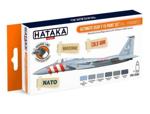 HATAKA Orange Line Set(6 pcs) Ultimate USAF F15 paint set (all variants) HTK-CS43