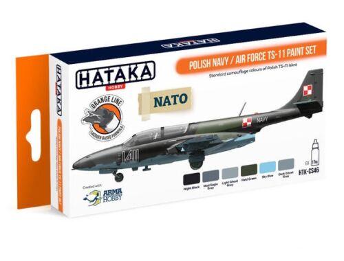 HATAKA Orange Line Set(6 pcs) Polish Navy / Air Force TS-11 paint set HTK-CS46