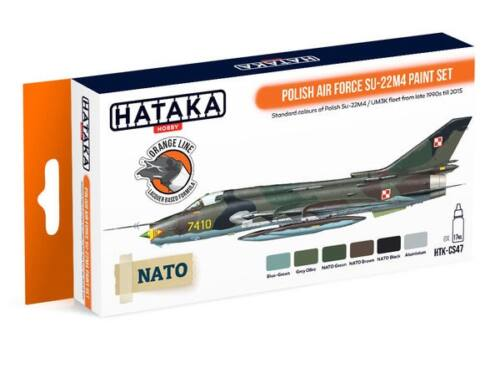 HATAKA Orange Line Set(6 pcs) Polish Air Force Su-22M4 paint set HTK-CS47