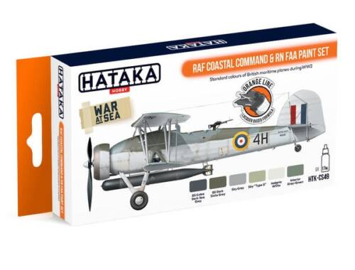 HATAKA Orange Line Set(6 pcs) RAF Coastal Command   RN FAA paint set HTK-CS49