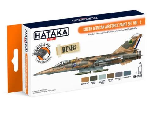 HATAKA Orange Line Set(6 pcs) South African Air Force paint set vol. 1 HTK-CS50