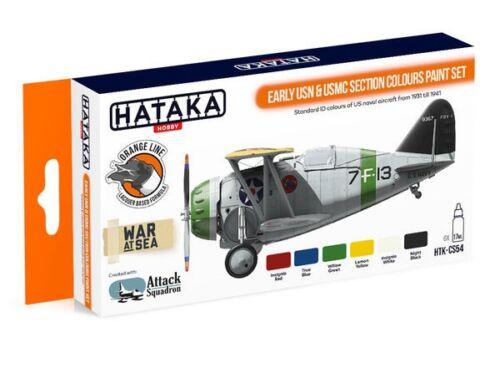 HATAKA Orange Line Set(6 pcs) Early USN   USMC Section Colours paint set HTK-CS54