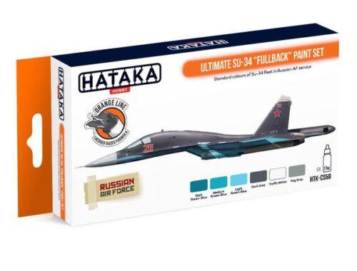 HATAKA Orange Line Set(6 pcs) Ultimate Su-34 Fullback paint set HTK-CS58