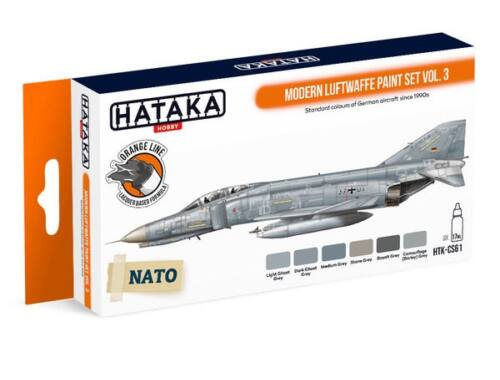 HATAKA Orange Line Set(6 pcs) Modern Luftwaffe paint set vol. 3 HTK-CS61