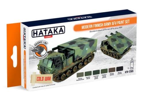 HATAKA Orange Line Set(6 pcs) Modern Finnish Army AFV paint set HTK-CS65