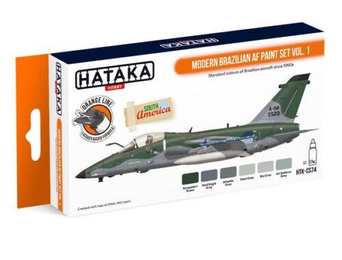 HATAKA Orange Line Set(6 pcs) Modern Brazilian AF paint set vol. 1 HTK-CS74