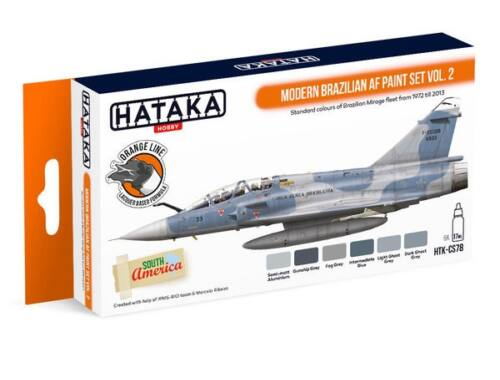 HATAKA Orange Line Set(6 pcs) Modern Brazilian AF paint set vol. 2 HTK-CS78