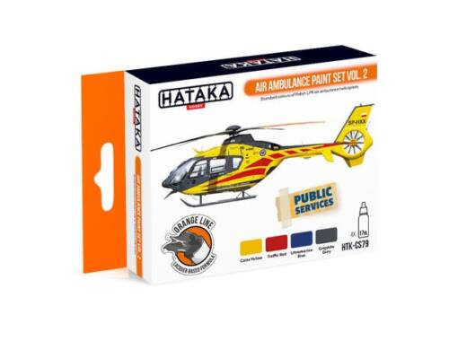 HATAKA Orange Line Set(4 pcs) Air Ambulance paint set vol. 2 HTK-CS79