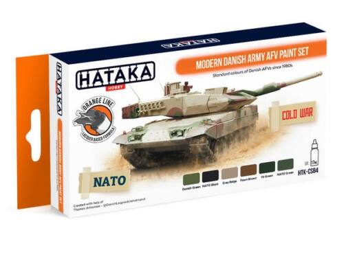 HATAKA Orange Line Set(6 pcs) Modern Danish Army AFV paint set HTK-CS84