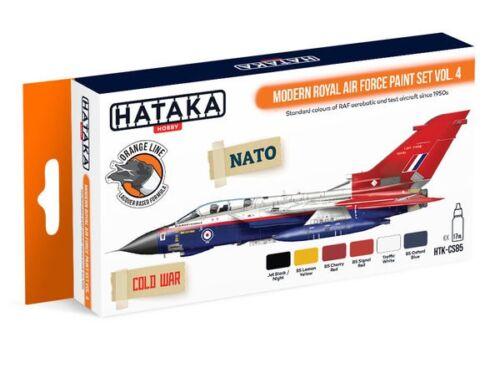 HATAKA Orange Line Set(6 pcs) Modern Royal Air Force paint set vol. 4 HTK-CS85
