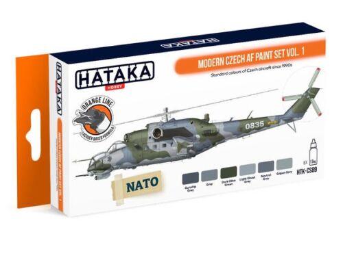 HATAKA Orange Line Set(6 pcs) Modern Czech AF paint set vol. 1 HTK-CS89