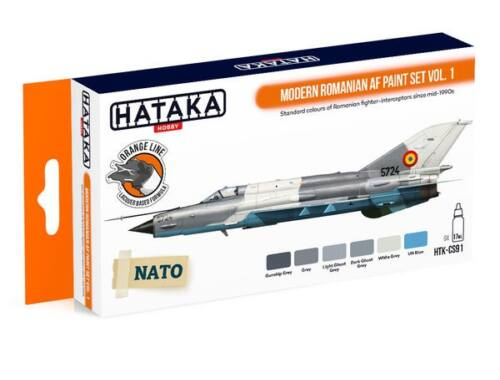 HATAKA Orange Line Set(6 pcs) Modern Romanian AF paint set vol. 1 HTK-CS91