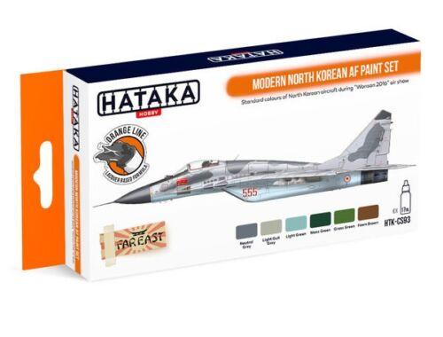 HATAKA Orange Line Set(6 pcs) Modern North Korean AF paint set HTK-CS93