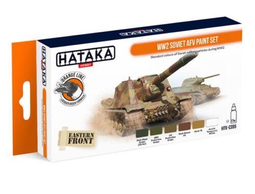 HATAKA Orange Line Set(6 pcs) WW2 Soviet AFV paint set HTK-CS95