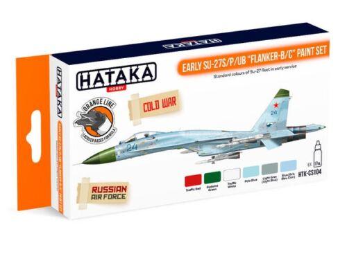 HATAKA Orange Line Set(6 pcs) Early Su-27S/P/UB Flanker-B/C paint set HTK-CS104
