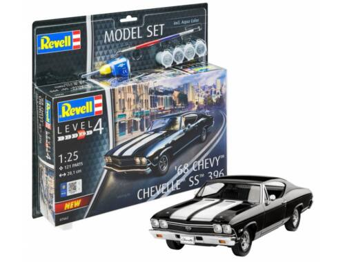 Revell Model Set 1968 Chevy Chevelle SS 396 1:25 (67662)