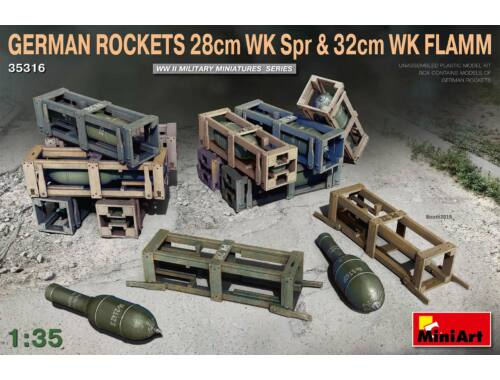MiniArt German Rockets 28cm WK Spr 32cm WK Flamm 1:35 (35316)