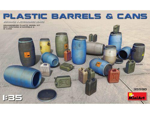 MiniArt Plastic Barrels   Cans 1:35 (35590)