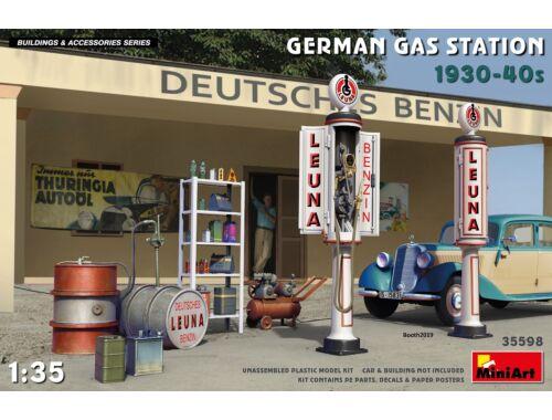 MiniArt German Gas Station 1930-40s 1:35 (35598)