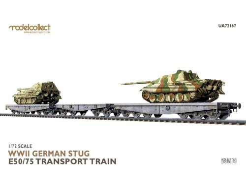 Modelcollect WWII German STUG E50/75 transport train 1:72 (UA72167)