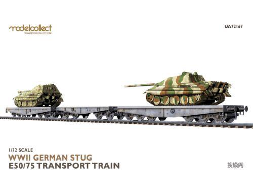 Modelcollect WWII German STUG E50/75 transport train 1:72 (UA72167)