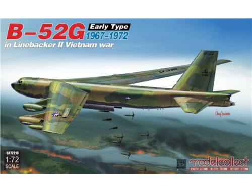 Modelcollect B-52G early type in Linebacker II Vietnam war 1:72 (UA72210)