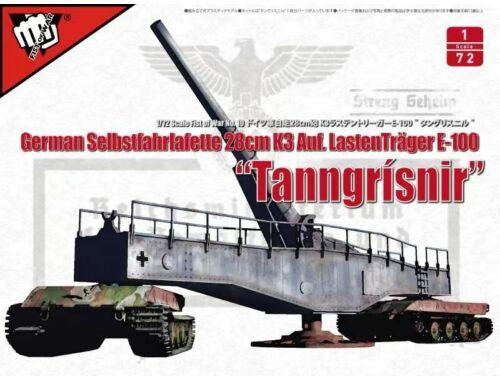 Modelcollect Fist of War WWII German 28CM Kanone E-100 1:72 (UA72309)